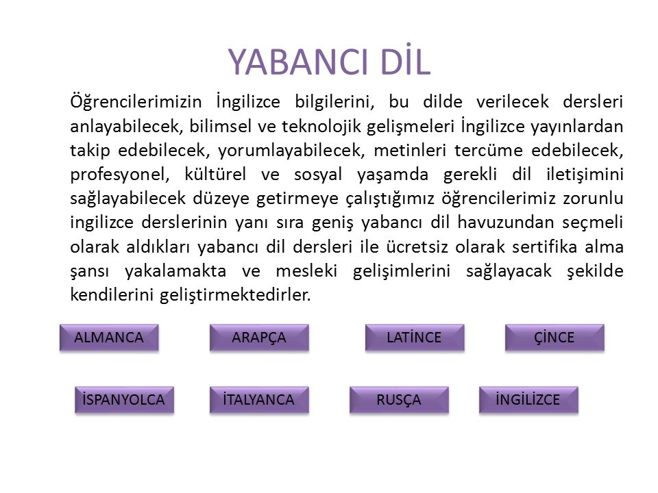 YABANCI DİL