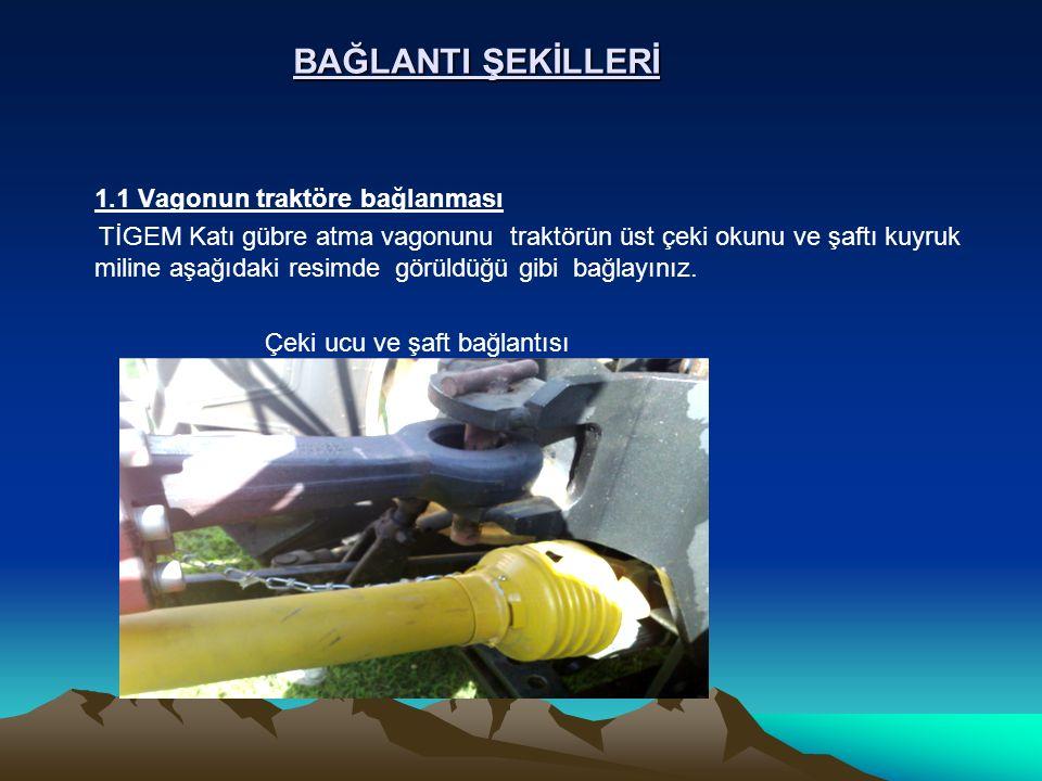 BAĞLANTI ŞEKİLLERİ 1.1 Vagonun traktöre bağlanması.