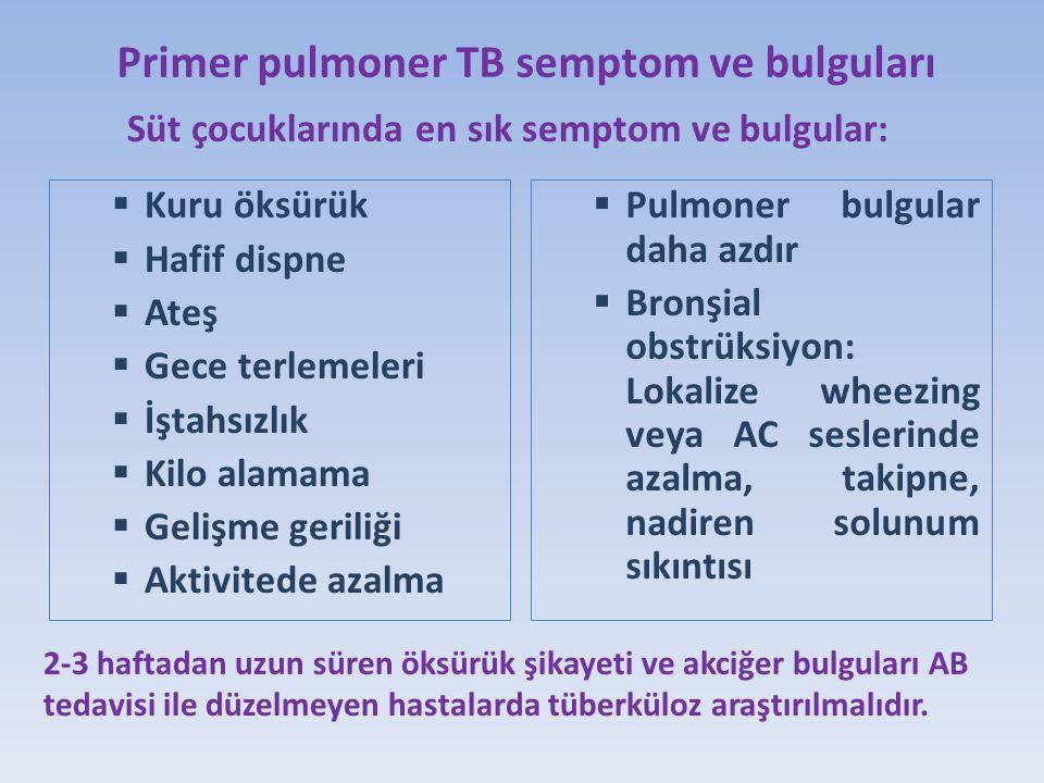 Primer pulmoner TB semptom ve bulguları