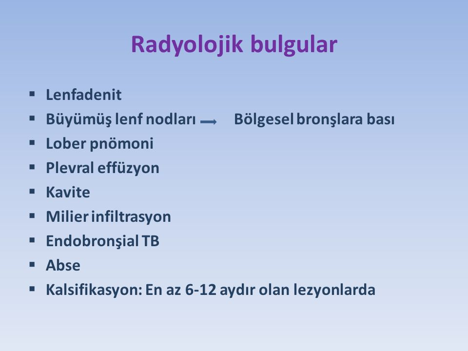 Radyolojik bulgular Lenfadenit