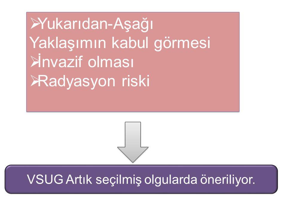 VSUG Artık seçilmiş olgularda öneriliyor.