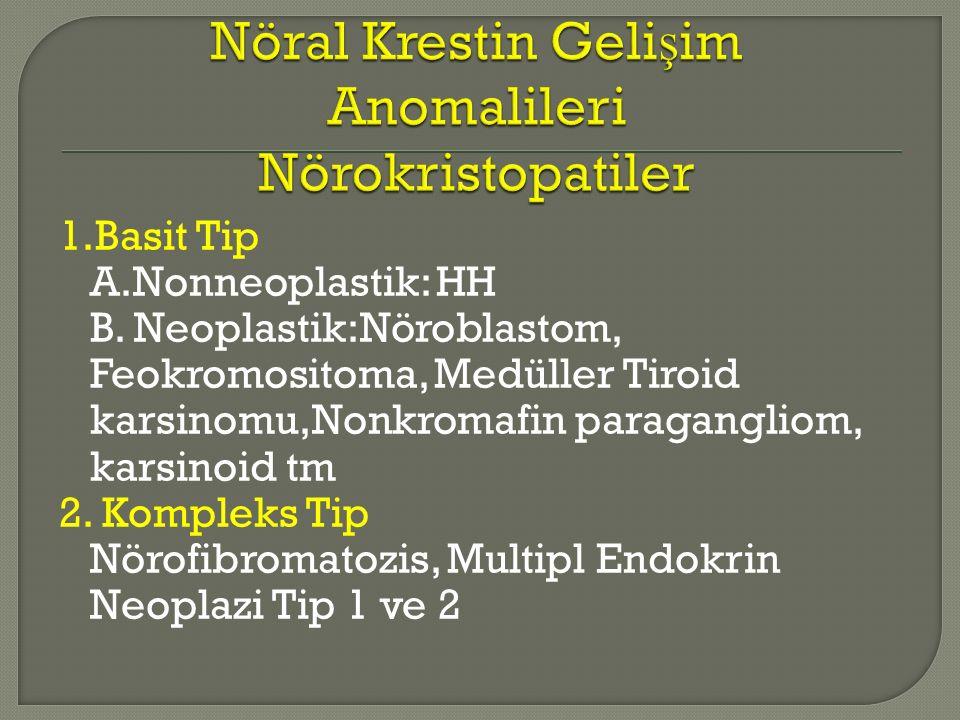 Nöral Krestin Gelişim Anomalileri Nörokristopatiler