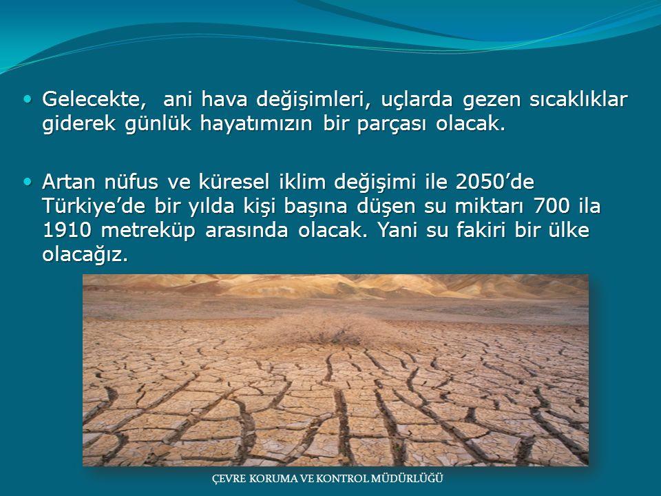 Gelecekte, ani hava değişimleri, uçlarda gezen sıcaklıklar giderek günlük hayatımızın bir parçası olacak.