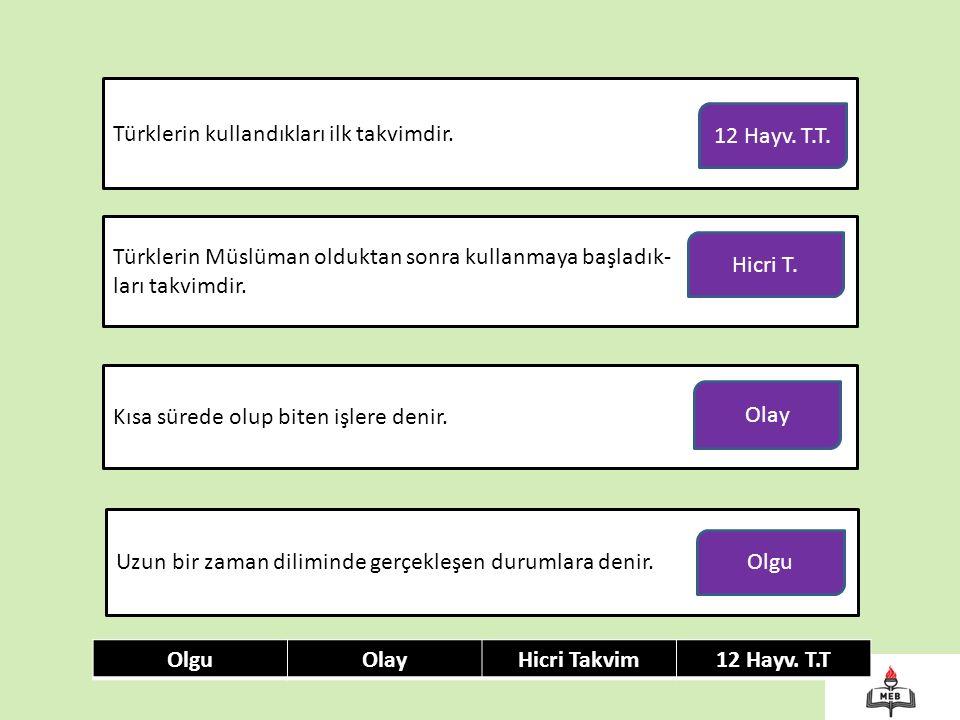 Türklerin kullandıkları ilk takvimdir.