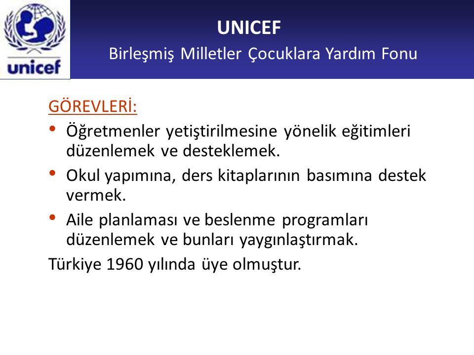 UNICEF Birleşmiş Milletler Çocuklara Yardım Fonu