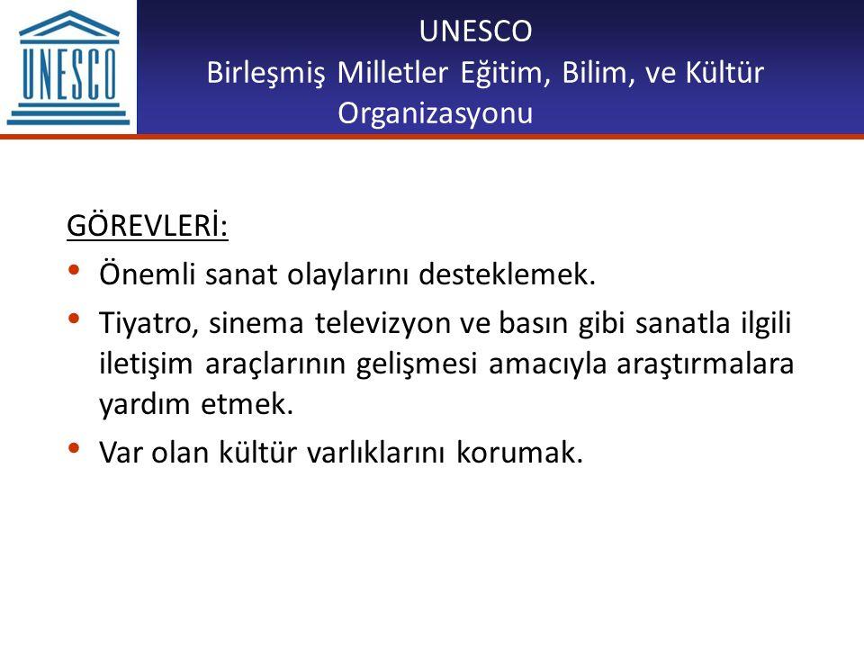 UNESCO Birleşmiş Milletler Eğitim, Bilim, ve Kültür Organizasyonu