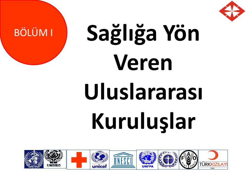 Sağlığa Yön Veren Uluslararası Kuruluşlar
