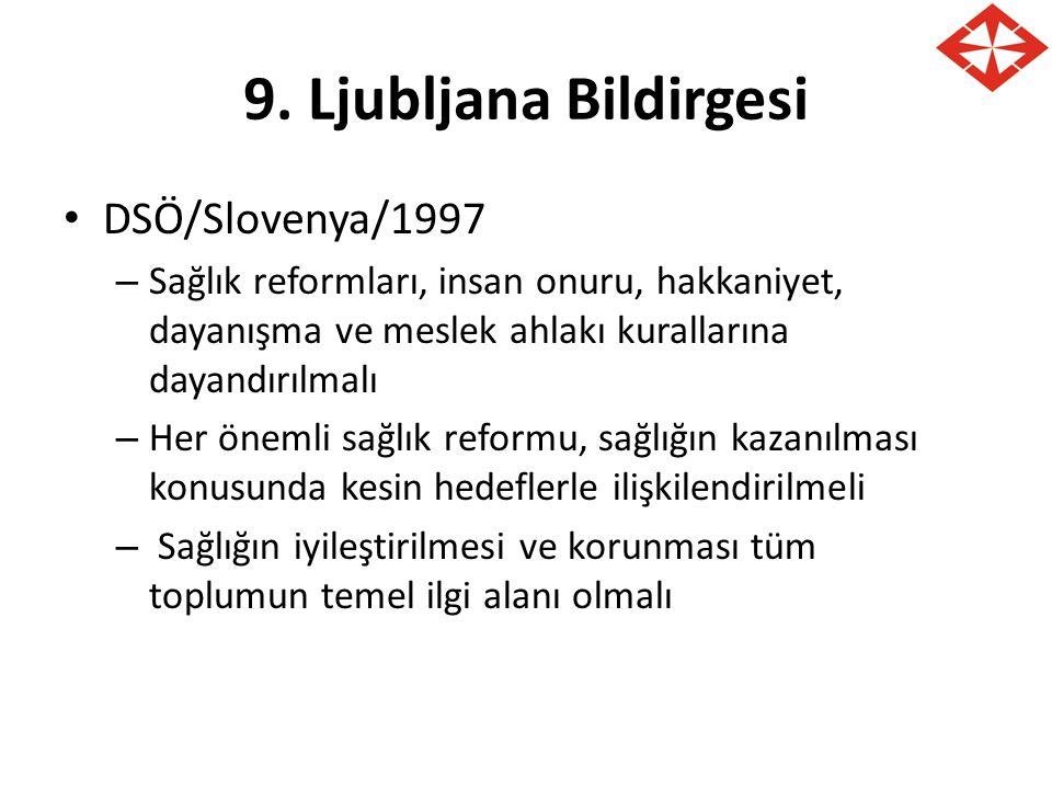 9. Ljubljana Bildirgesi DSÖ/Slovenya/1997