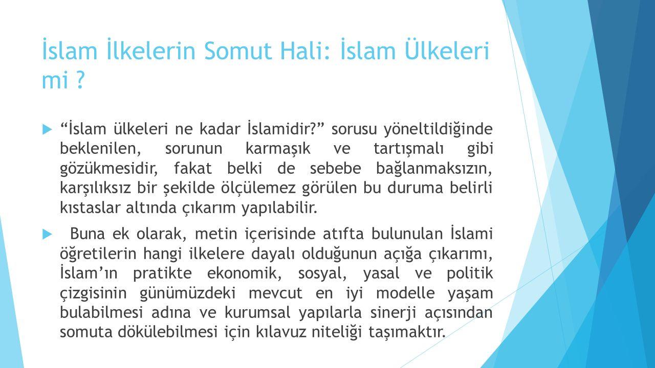 İslam İlkelerin Somut Hali: İslam Ülkeleri mi