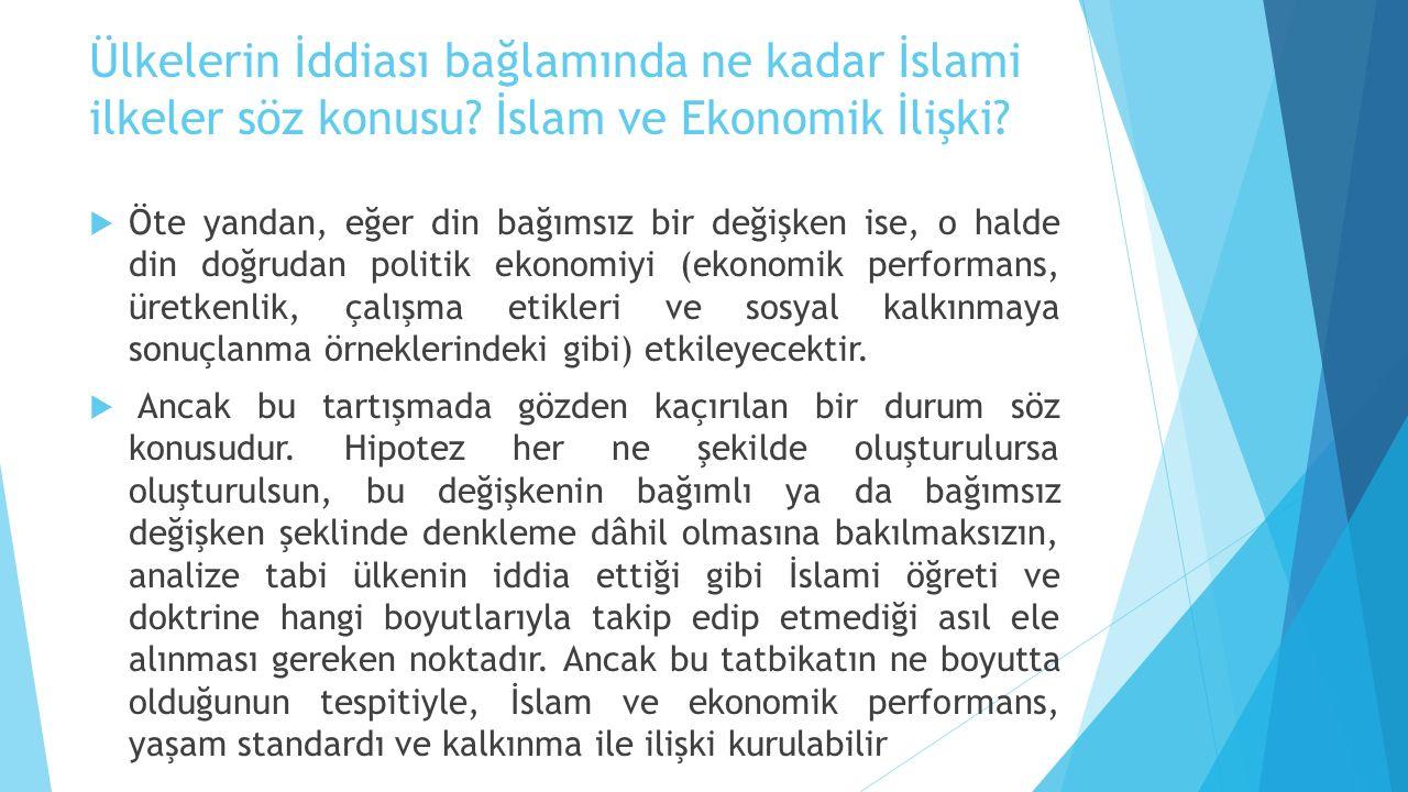 Ülkelerin İddiası bağlamında ne kadar İslami ilkeler söz konusu