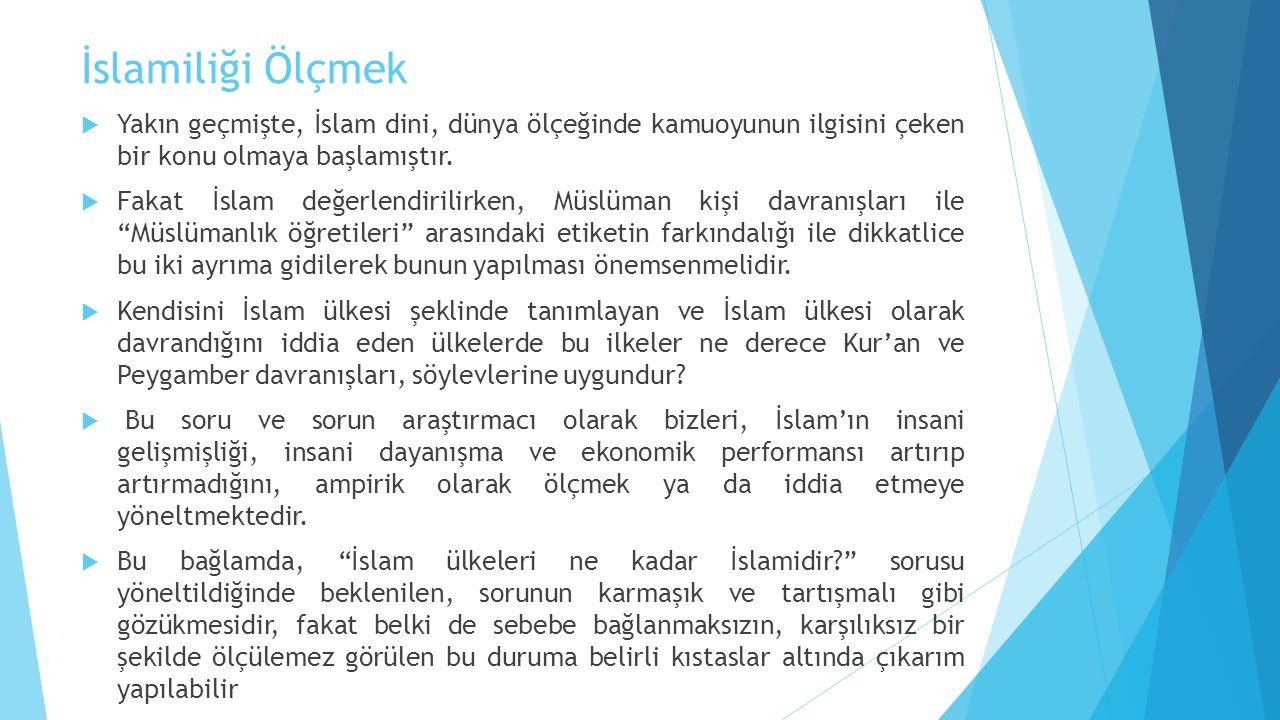 İslamiliği Ölçmek Yakın geçmişte, İslam dini, dünya ölçeğinde kamuoyunun ilgisini çeken bir konu olmaya başlamıştır.
