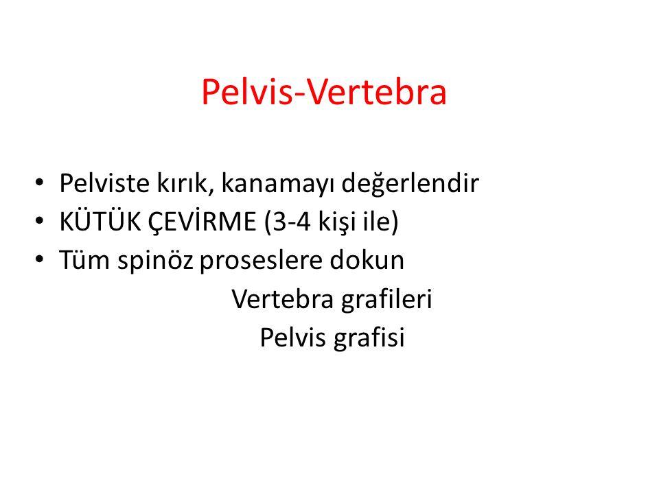 Pelvis-Vertebra Pelviste kırık, kanamayı değerlendir