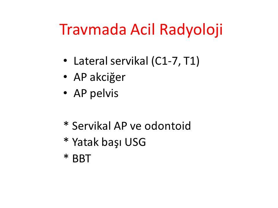 Travmada Acil Radyoloji