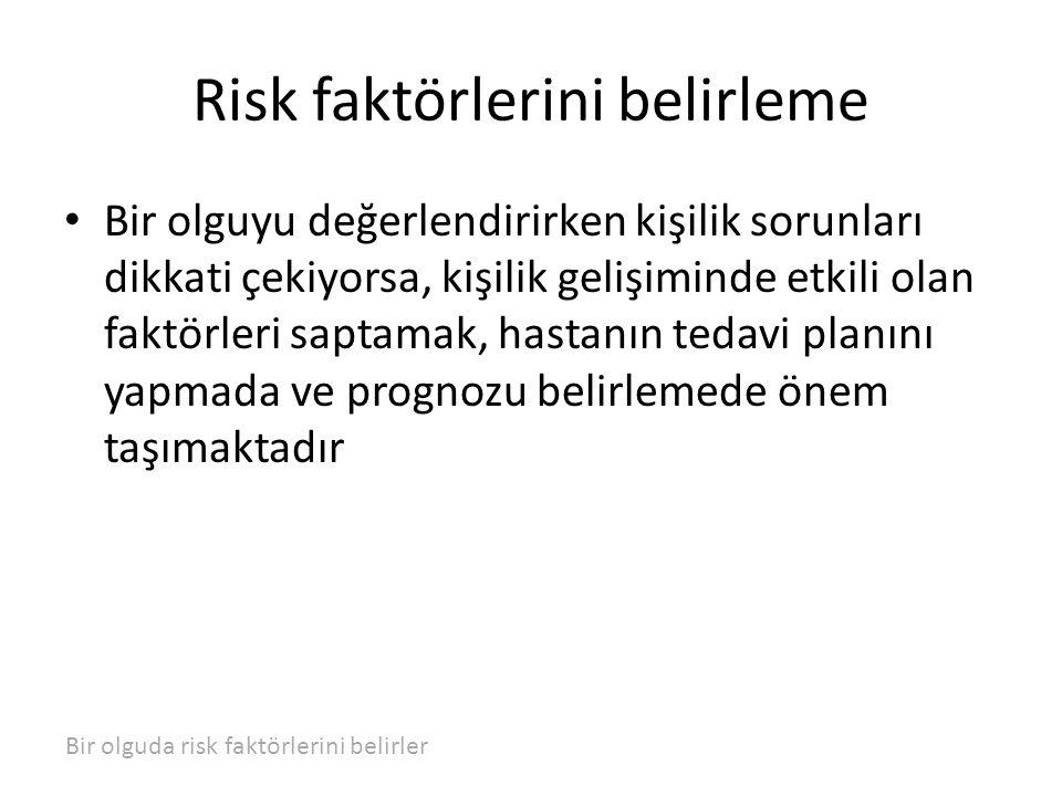 Risk faktörlerini belirleme