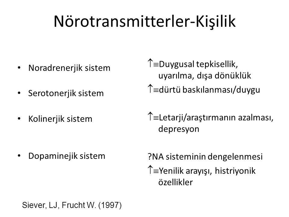 Nörotransmitterler-Kişilik