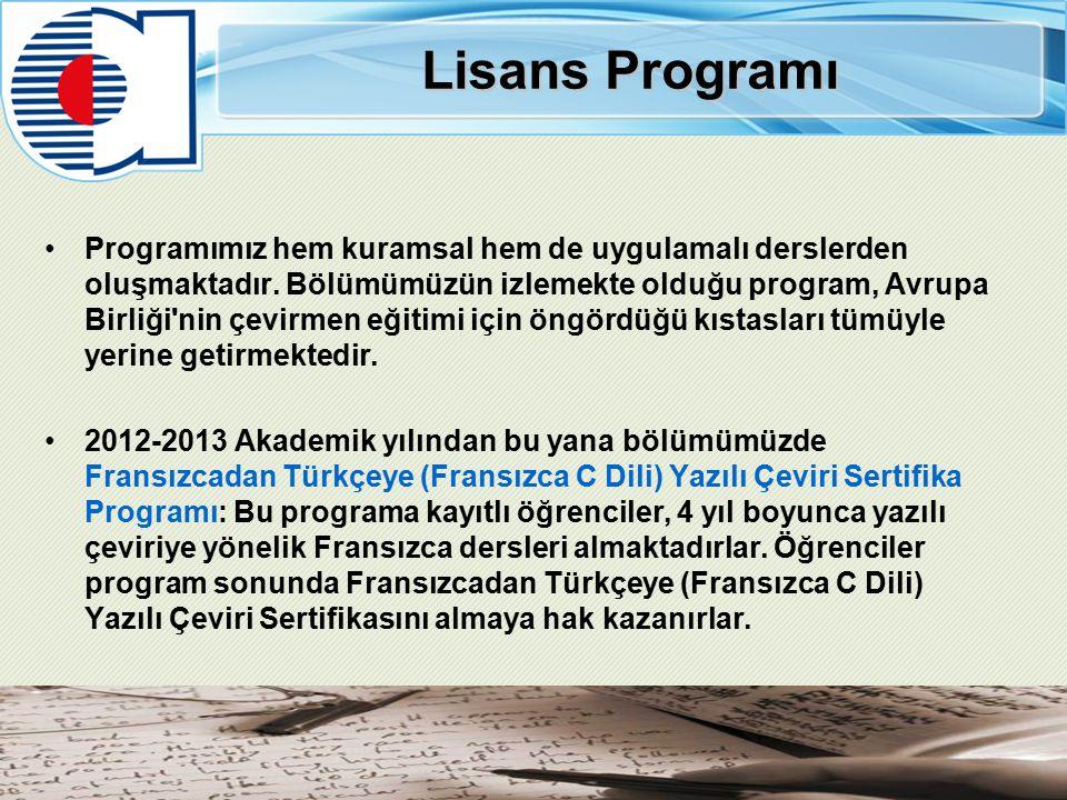 Lisans Programı