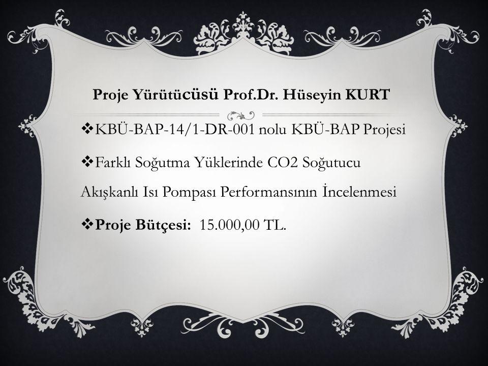 Proje Yürütücüsü Prof.Dr. Hüseyin KURT