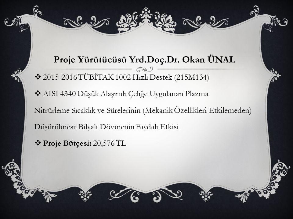 Proje Yürütücüsü Yrd.Doç.Dr. Okan ÜNAL