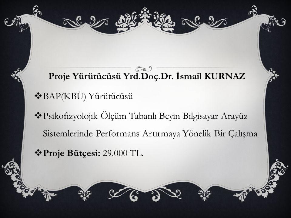 Proje Yürütücüsü Yrd.Doç.Dr. İsmail KURNAZ