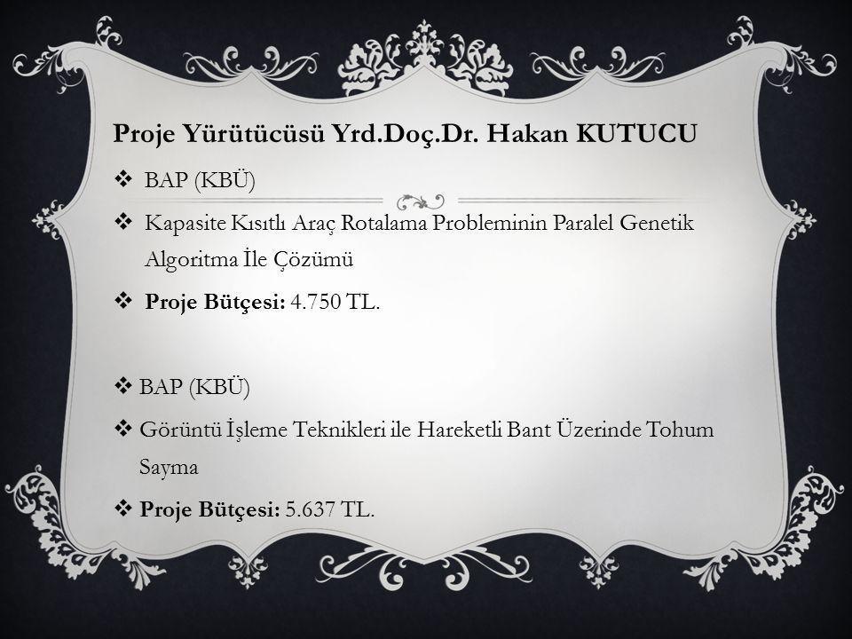 Proje Yürütücüsü Yrd.Doç.Dr. Hakan KUTUCU