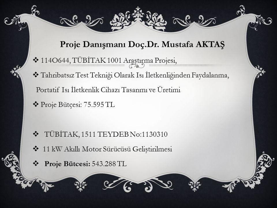 Proje Danışmanı Doç.Dr. Mustafa AKTAŞ