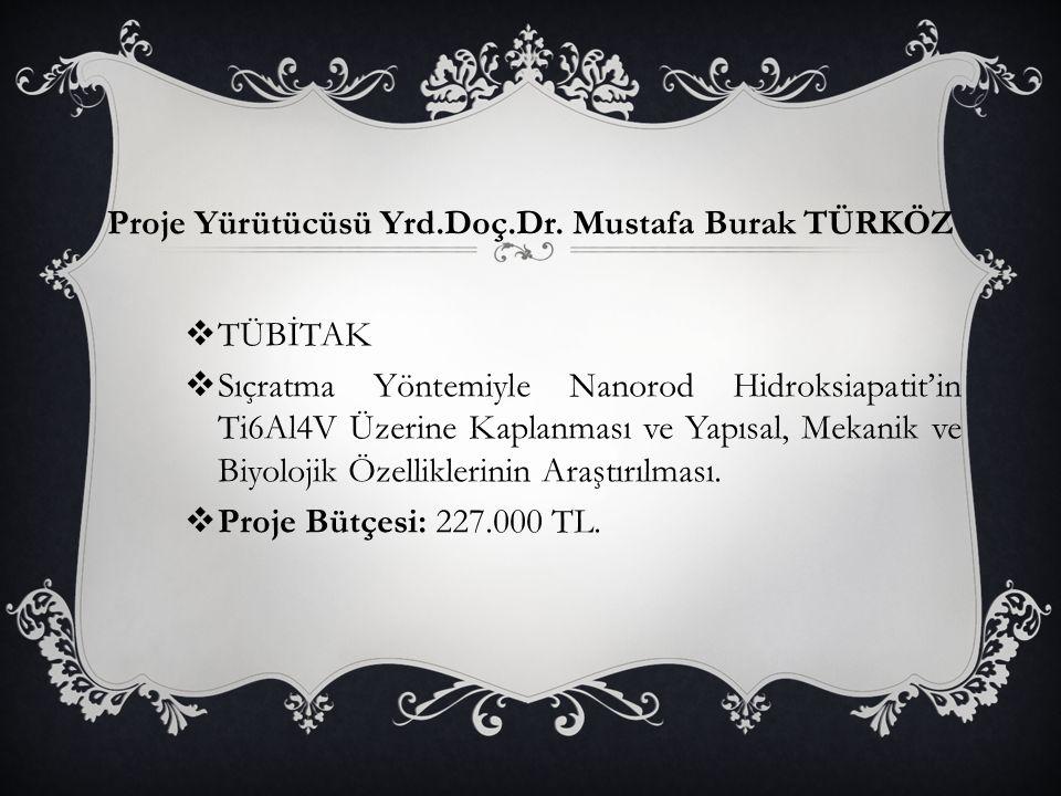 Proje Yürütücüsü Yrd.Doç.Dr. Mustafa Burak TÜRKÖZ