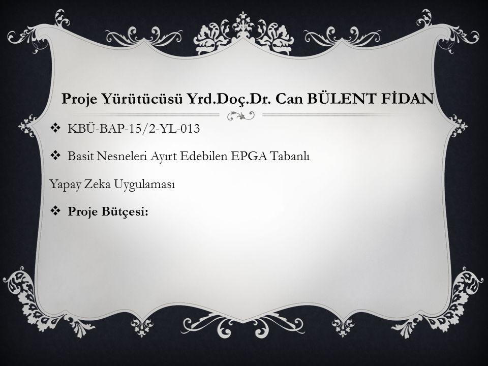 Proje Yürütücüsü Yrd.Doç.Dr. Can BÜLENT FİDAN