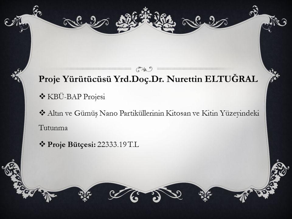 Proje Yürütücüsü Yrd.Doç.Dr. Nurettin ELTUĞRAL