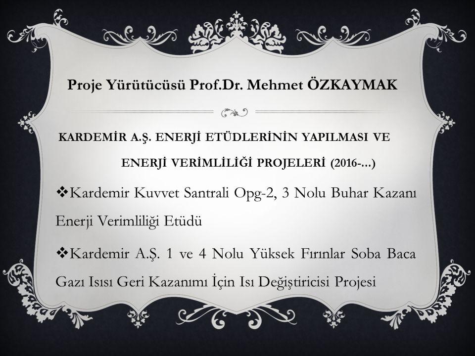 Proje Yürütücüsü Prof.Dr. Mehmet ÖZKAYMAK