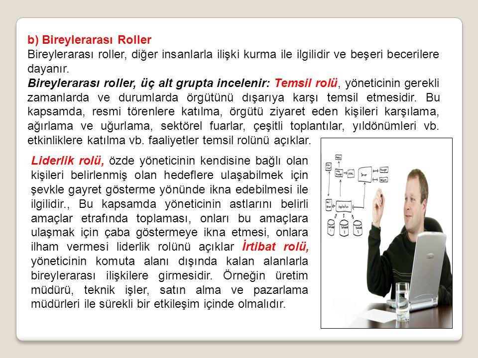 b) Bireylerarası Roller