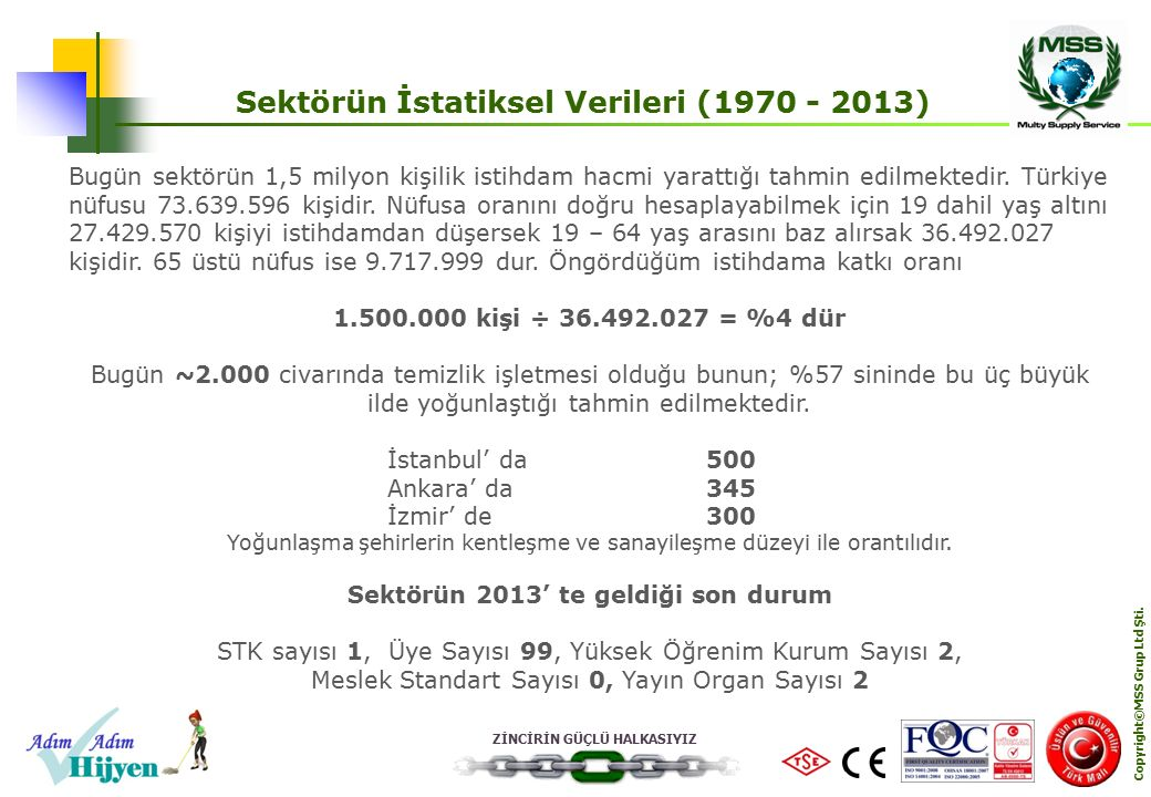 Sektörün İstatiksel Verileri (1970 - 2013)