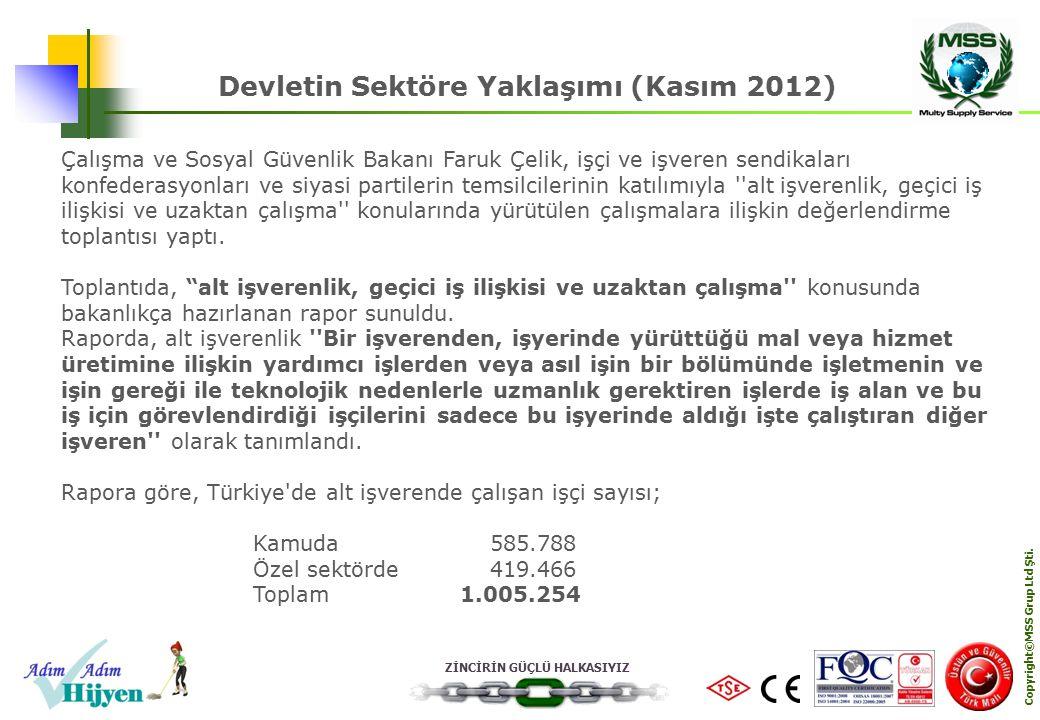 Devletin Sektöre Yaklaşımı (Kasım 2012) Copyright©MSS Grup Ltd Şti.