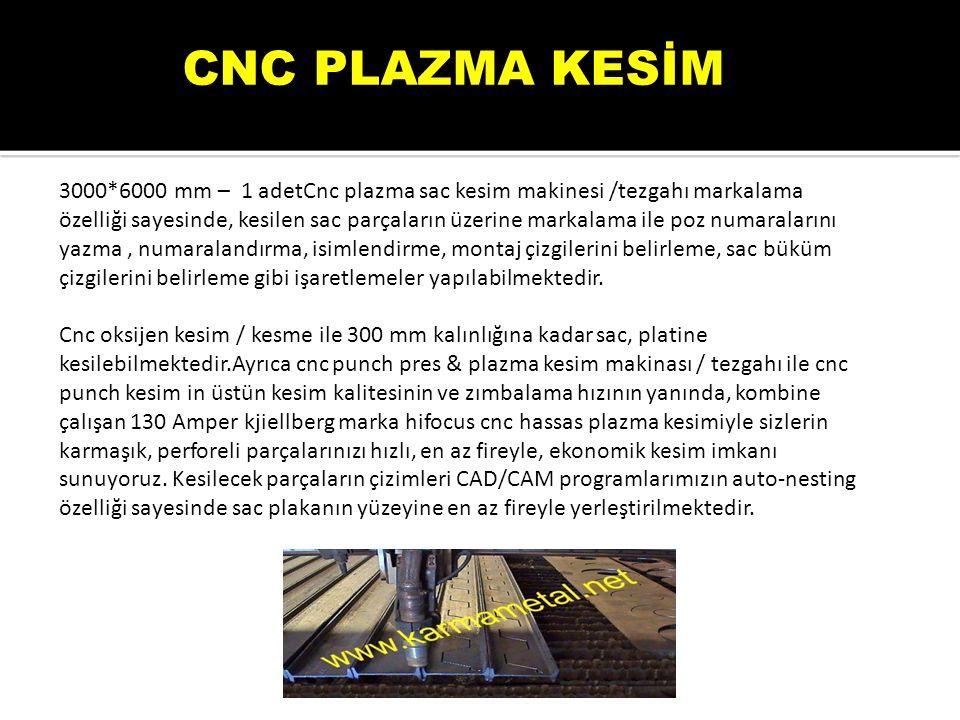 CNC PLAZMA KESİM
