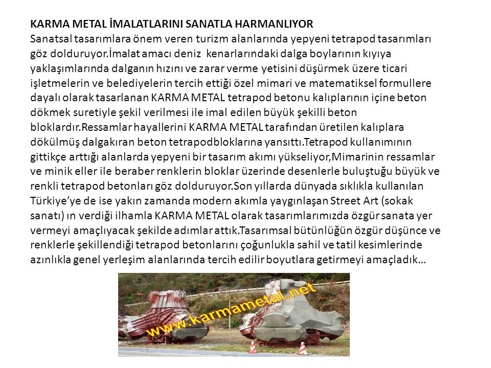 KARMA METAL İMALATLARINI SANATLA HARMANLIYOR