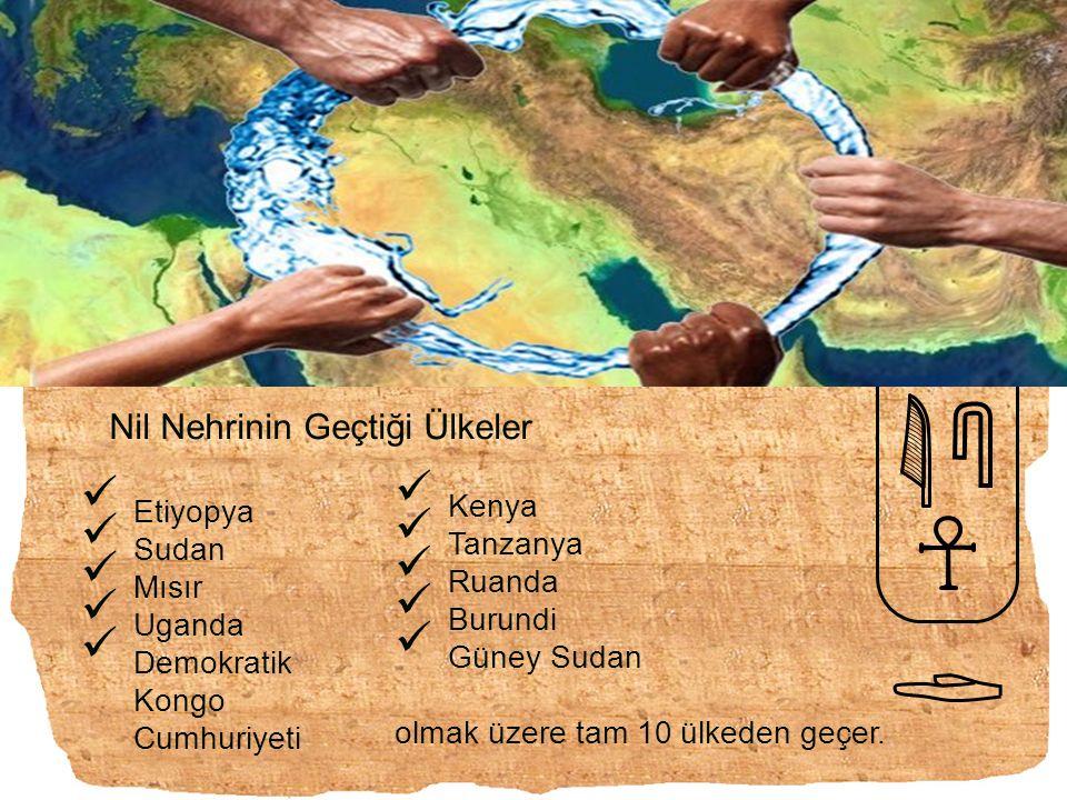 Nil Nehrinin Geçtiği Ülkeler