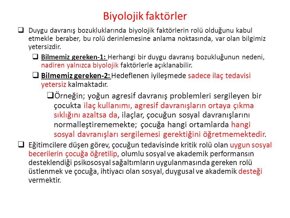 Biyolojik faktörler