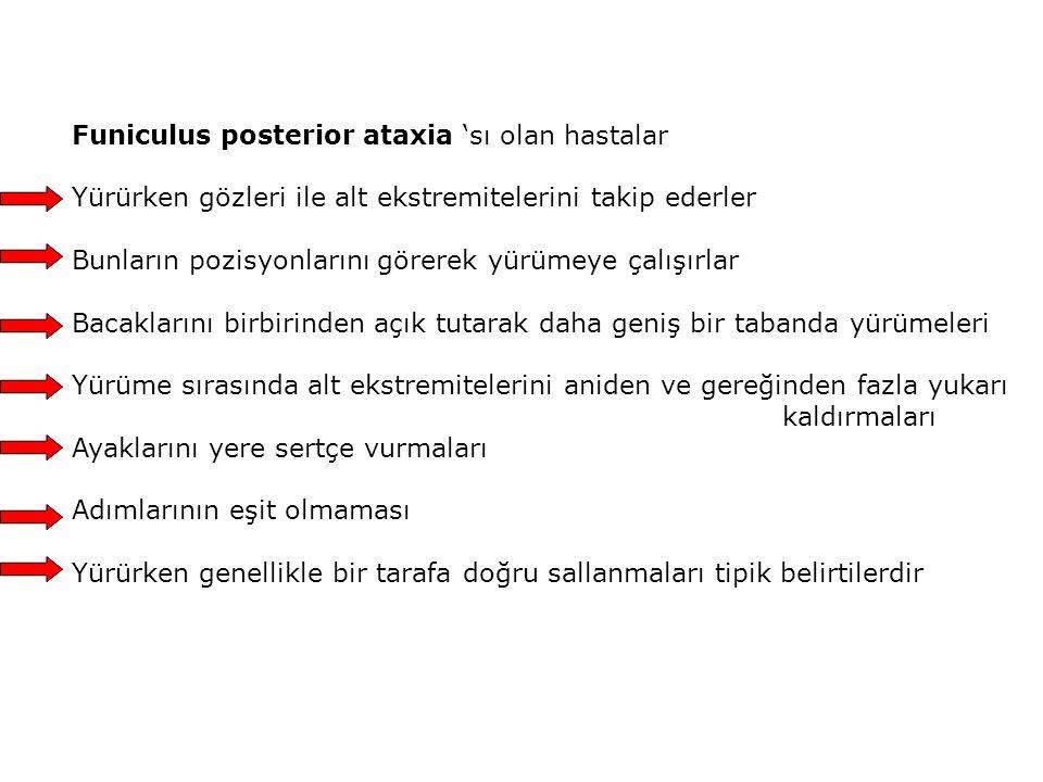 Funiculus posterior ataxia 'sı olan hastalar