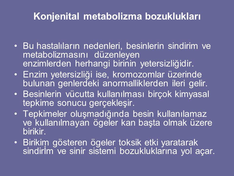 Konjenital metabolizma bozuklukları