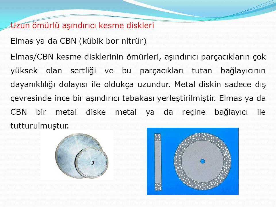 Uzun ömürlü aşındırıcı kesme diskleri