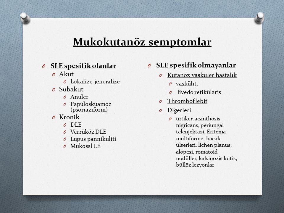 Mukokutanöz semptomlar