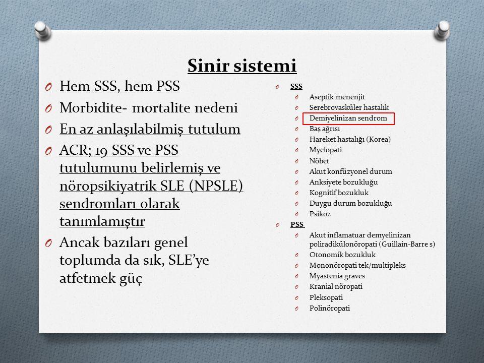 Sinir sistemi Hem SSS, hem PSS Morbidite- mortalite nedeni