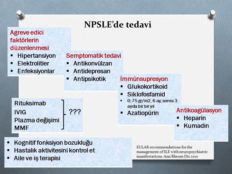 NPSLE'de tedavi Agreve edici faktörlerin düzenlenmesi Hipertansiyon