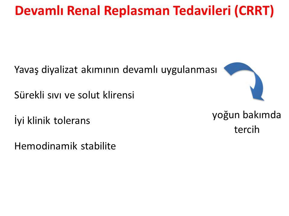 Devamlı Renal Replasman Tedavileri (CRRT)