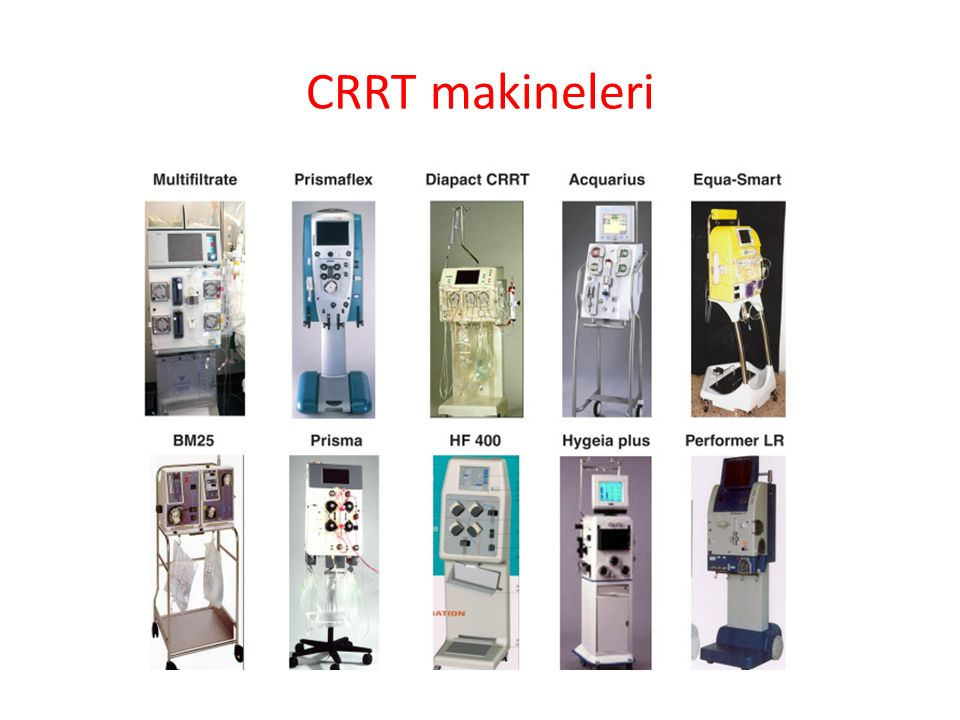 CRRT makineleri