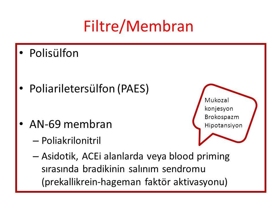 Filtre/Membran Polisülfon Poliariletersülfon (PAES) AN-69 membran