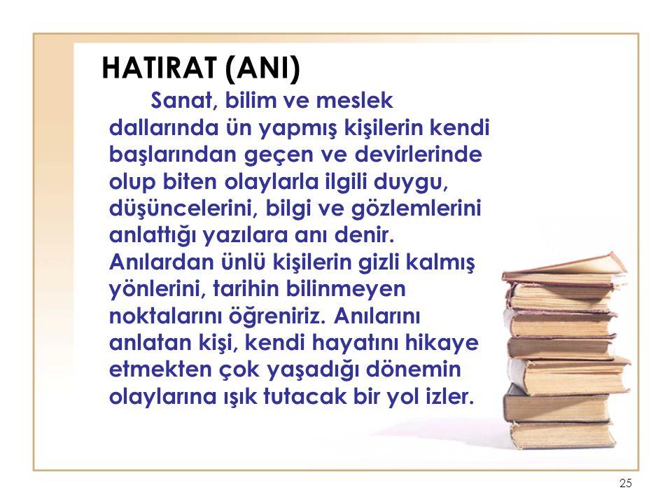 HATIRAT (ANI)