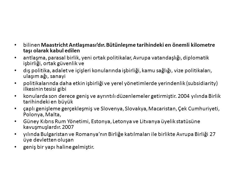 bilinen Maastricht Antlaşması'dır