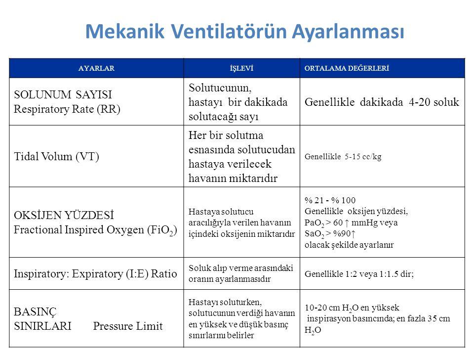 Mekanik Ventilatörün Ayarlanması