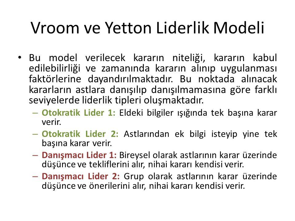 Vroom ve Yetton Liderlik Modeli
