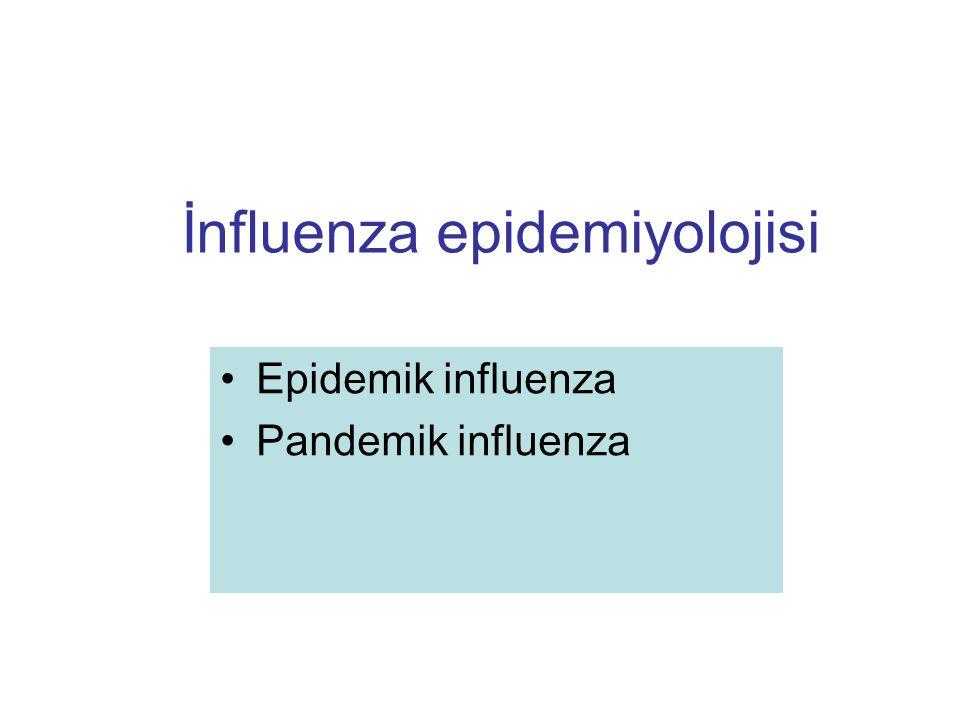 İnfluenza epidemiyolojisi